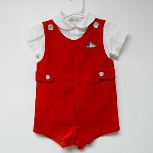 VTG 50s baby boy romper made in the Philippines